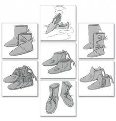 Patron de chaussures historique