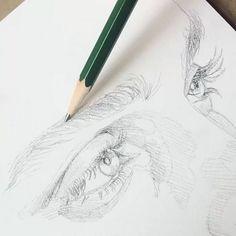 Likes, 80 Comments - Ruth Speer ( Portrait Au Crayon, Pencil Portrait, Drawing Sketches, Pencil Drawings, Art Drawings, Drawing Eyes, Sketching, Face Sketch, Illusion Kunst
