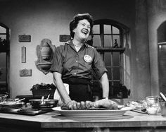 10 Amazing Photos of Julia Child Having the Time of Her Life in the Kitchen. Erin one of theeeeese