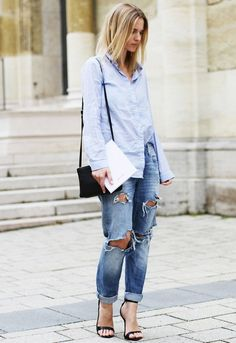 Denim Done Chic: How to Make Chambray Work For You This Summer via @Alexandra M What Wear