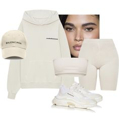 A fashion look from March 2018 featuring Yeezy by Kanye West hoodies and Balenciaga hats. Browse and shop related looks.