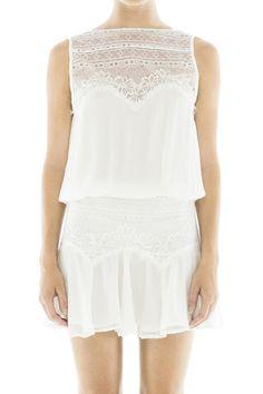 Gatsby Fuji Dress -Off White - Magali Pascal