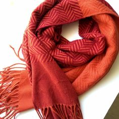 Two-Tone Scarf I LOVE this scarf. Thicker material and very soft! Red/orange pattern mix! Great condition Boutique Accessories Scarves & Wraps