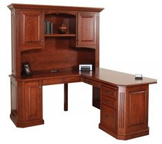 Cherry Corner Desk With Hutch Corner Desk With Hutch | L Shaped Desk With Hutch