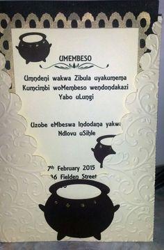 Zulu Traditional Wedding Invitation Cards Designs Check more at www. - Zulu Traditional Wedding Invitation Cards Designs Check more at. Zulu Traditional Wedding, Traditional Wedding Invitations, Traditional Dresses, Wedding Invitation Video, Wedding Invitation Card Design, Invitation Wording, Invitation Ideas, Business Invitation, Invites