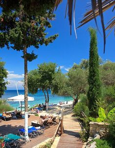 Monodendri beach is one of the most popular spots on the island...