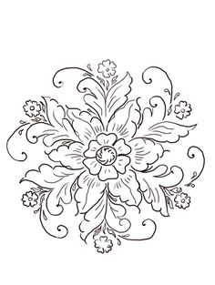 Embroidery Patterns Norwegian Rosemaling coloring page from Norway category. Select from 21274 printable crafts of cartoons, nature, animals, Bible and many more. Floral Embroidery Patterns, Embroidery Designs, Folk Embroidery, Flower Patterns, Rosemaling Pattern, Norwegian Rosemaling, Scandinavian Folk Art, Scandinavian Tattoo, Printable Crafts