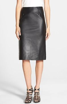 J.O.A. Faux Leather Pencil Skirt.