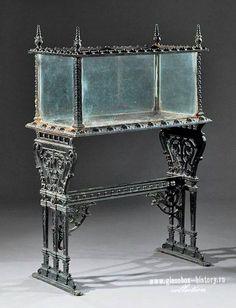 An English Cast Iron Wardian Case (terrarium) On Stand Victorian Furniture, Antique Furniture, Cool Furniture, Gothic House, Victorian Gothic, Support Pour Aquarium, Aquarium Original, Amazing Aquariums, Paludarium