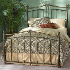 Merrick Iron Headboard by Wesley Allen - Brass Mocha Finish  CAN ONLY GET THE HEADBOARD IN KING SIZE