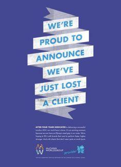 """""""Estamos orgullosos de anunciar que hemos perdido a un cliente"""" McCann"""
