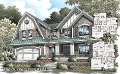 Craftsman Cottage 1233 - The Brielle - NOW AVAILABLE! http://www.dongardner.com/plan_details.aspx?pid=3745  This two story home features a lavish kitchen and oversized utility room, while the second floor master suite enjoys a private porch and double walk-in closests. #Craftsman #Cottage #TwoStory #House floor plan, hous plan, hous idea, dream hous, craftsman cottag