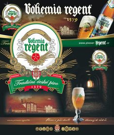Bohemia Regent beer from Třeboň, Czechia . Founded 1379 Folk Art, Pin Up, Beer, Traditional, Bohemia, Root Beer, Ale, Popular Art, Pinup