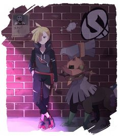 Gladion hanging out with Type:Null