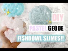 DIY PASTEL GEODE FISHBOWL SLIMES!! - THE CRUNCHIEST SLIME EVER! - YouTube