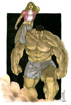 Hulk and She-Hulk: Drawn By Vincenzo Cucca *cuccadesign Deviantart Marvel Comics Art, Hulk Marvel, Marvel Heroes, Avengers, Red She Hulk, Red Hulk, Star Trek, Hulk Art, Hulk Smash