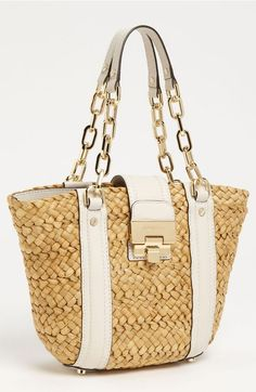 a06fdd77dff9 Cheap Michael Kors Amangasett Straw Large Pink Totes Outlet Online With Off  Sale. Product Image 1