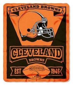 Cleveland Browns Blanket 50x60 Fleece Marque Design 2015