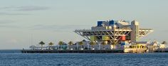 St. Petersburg Pier from Vinoy Park  Vinoy Park is on the north side of downtown St. Petersburg and offers vista views of Tampa Bay and the St. Petersburg Pier's inverted pyramid and it's pylons