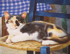 mikado on a chair by leslie ann ivory