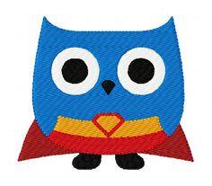 INSTANT DOWNLOAD Owl Super Hero Machine by JoyfulStitchesEtsy, $4.00