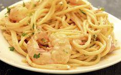 Receta fácil de pasta con camarones