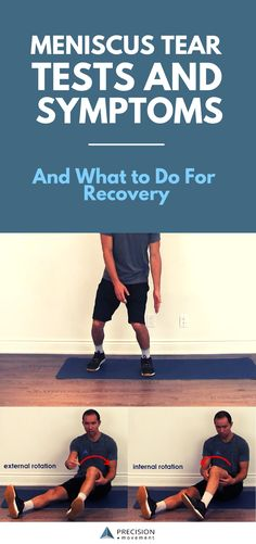 Meniscus Tear Symptoms and Recovery Find out if you have a strained or torn meniscus and what to do about it. Ankle Sprain Recovery, Knee Surgery Recovery, Acl Recovery, Pneumonia Recovery, Burnout Recovery, Recovery Humor, Codependency Recovery, Alcoholism Recovery, Stroke Recovery