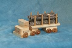 Hey, I found this really awesome Etsy listing at https://www.etsy.com/listing/21154409/handcrafted-wood-toy-log-truck