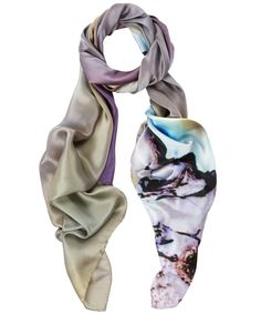 Lilac Agate Print Silk Scarf, Weston Scarves. Shop the latest Weston Scarves collection at Liberty.co.uk