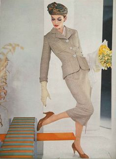 Vogue 1956 by dovima_is_devine_II, via Flickr Love the length of this skirt