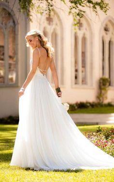 6579 Beach Wedding Dress with Silk Chiffon by Stella York