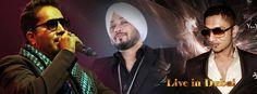 Dilbagh Singh's performing live with mika singh and YO YO honey singh in Dubai 2014