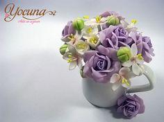 Bouquet flores en azúcar