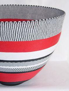 Red - bowl - telephone wire - Zen Zulu