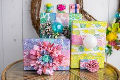 Dreaming of a Bright Christmas Gift Wrapping Paper, Brown Paper, Diy Tutorial, Holiday Gifts, Embellishments, Wraps, Bright, Christmas, How To Make