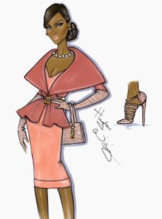 #Hayden Williams Fashion Illustrations #'First Lady' by Hayden Williams