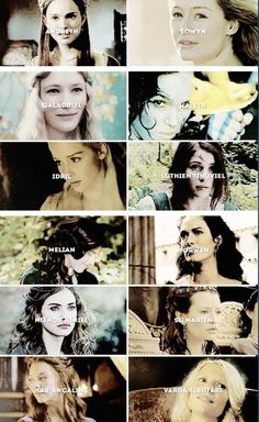 (Click on the pin for the entire description of these ladies) My Favourite Tolkien Ladies:  Andreth Saelind, a wisewoman from the House of Bëor. Éowyn, White Lady of Rohan, Lady of the Shield-arm. Galadriel Alatáriel, the Lady of Lothlórien, the Lady of Light. Haleth the Hunter, the Chieftain of the Haladin. Idril Celebrindal, the Princess of Gondolin. Lúthien Tinúviel, the Princess of Doriath, the fairest of all Children of Ilúvatar. Melian, the Maia Queen of Doriath...