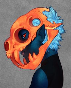 monsters with orange teeth have orange bones by Joey Granger