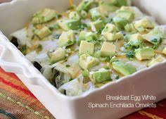 Breakfast Egg White Spinach Enchilada Omelets