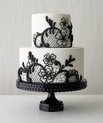 Black lace wedding cake - Best of wedding cakes 2009 - Real Simple Magazine Black And White Wedding Cake, Black Wedding Cakes, Black White, Lace Wedding, Elegant Wedding, Pretty Black, Purple Wedding, Wedding Pins, Wedding Summer