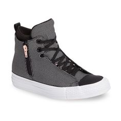 Women's Converse Chuck Taylor All Star Selene High Top Sneaker ($85) ❤ liked on Polyvore featuring shoes, sneakers, converse trainers, converse sneakers, high top shoes, 80s footwear and 80s sneakers
