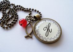 Shop for on Etsy, the place to express your creativity through the buying and selling of handmade and vintage goods. Initial Pendant Necklace, Pocket Watch, Initials, Monogram, Unique Jewelry, Handmade Gifts, Stuff To Buy, Etsy, Vintage