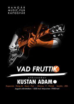 Kustan Adam, Vad Fruttik, music, poster, guitar