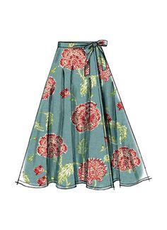 M7129 | McCall's Patterns: wrap skirt with side seam pockets