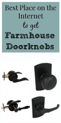 Best Place on the Internet to get Farmhouse Doorknobs - Restoration Redoux