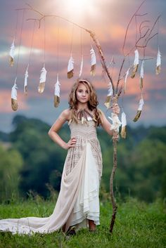 Gold Dipped Feathers | Boho | Tween
