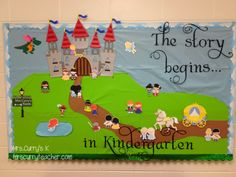 fairy tale bulletin board | Thanks to Lettering Delight's Dreams Come True bundle! And of course ...