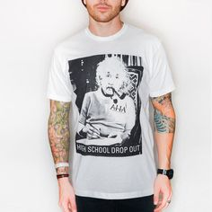 High School Drop Out Tee White now featured on Fab.