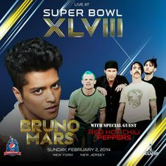 Red Hot Chili Peppers joins Bruno Mars for Super Bowl Half Time Show Bruno Mars, Super Bowl Show, Football Poses, Halftime Show, Perfect Music, Music Heals, Special Guest, Celebrity News, Stuffed Peppers