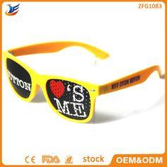 Custom Promotional Logo Printed Lens glasses Wholesale custom free logo Pinhole sunglasses For Party